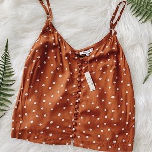 NWT Madewell button front camisole